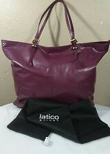 NWOT LATICO Soft Glazed Burgundy Genuine Leather Shoulder Bag  Tote