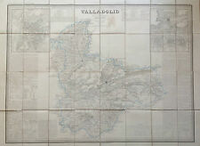 VALLADOLID. Francisco Coello. Mapa grabado original. Madrid 1852