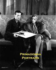 GRETA GARBO & ADRIAN 8X10 Lab Photo 1930s FASHION DESIGNER & SUPER STAR PORTRAIT