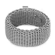 Desiger Mesh Band Ring All Genuine Sterling Silver.925 Stamped Size 6