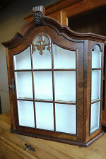 Old Dutch Wall Cabinet Cupboard Hanging Cabinet Antique in Nutwood
