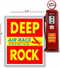 """3"""" DEEP ROCK RED AIRPLANE AIRCRAFT RACE FUEL GASOLINE GAS PUMP OIL TANK DECAL"""