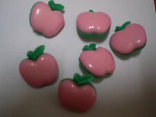 LARGE LIGHT PINK APPLE BUTTON (2cm across) (6 available)