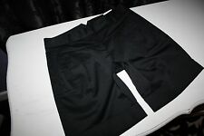 NWT Express the Editor Black Stretch Sateen Cotton Pleated Cuffed Metro Short 0