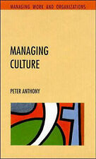 Managing Culture by Peter Anthony (Paperback, 1994)