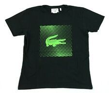 Lacoste Boys Short Sleeve Andy Roddick Black Green Shirt Size 4 TJ4384 BNWT