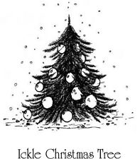 IndigoBlu A7 Rubber Stamp - Ickle Christmas Tree