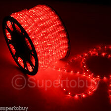 Red LED Rope 150ft 110V 2 Wire Flexible DIY Christmas Xmas Club Outdoor Lighting