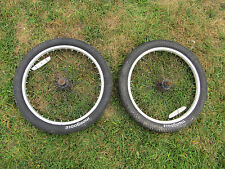 """BMX Mongoose 20"""" bikes Front & Back Wheels with Tires in good condition"""