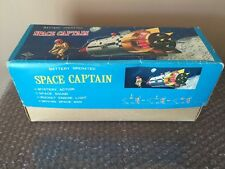 Vintage Cragstan Daiya Tin Litho Space Captain Apollo NASA Battery Operated