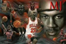 Michael Jordan Chicago Bulls 24x36 Fine Art Print Poster Wall Decor A087
