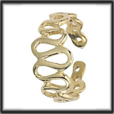 9ct Solid Gold Toe Ring with Undulating Pattern H007 jewellery company
