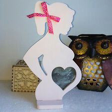 Baby Scan Photo Frame Pink Wooden Frame Pregnancy Gift
