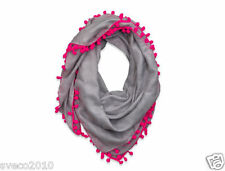 NWT HOLLISTER BY A&F WOMEN VINTAGE SHINE SCARF GRAY PATTERNED NEW
