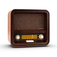 VINTAGE STYLE RETRO RADIO AM FM USB MP3 WOODEN NOSTALGIA STEREO SYSTEM MUSIC