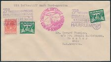 NEDERLAND STAMPS ON HINDENBURG 8TH NORTH AMERICAN FLIGHT COVER BR9905