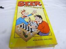 OLDER ADULT GAME-  BEER CHECKERS- BOXED- COMPLETE- S1