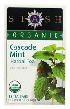 Stash Tea - Premium Organic Cascade Mint Caffeine Free Herbal Tea - 18 Tea Bags