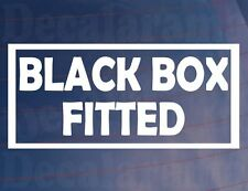 BLACK BOX FITTED Funny New/Young Driver Car/Window/Bumper Sticker