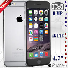 Apple Iphone 6 4G LTE 8MP IOS 9 16GB 1080p OEM Unlocked Phone Space Gray New