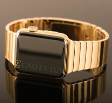 42mm Apple Watch (Gen 1) 24-Karat 24K Gold Plated, Diamond Polished Link Band
