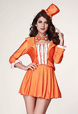Sexy Women's Fancy Dress Dumb & Dumber Harry Orange Tuxedo Costume