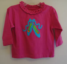 New Kelly's Kids Raspberry Rose Ballet Slippers Applique Top ~Size 18 Month