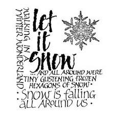 Crafty Individuals LET IT SNOW Rubber Stamp CI-138
