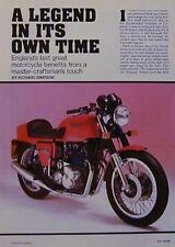 TRIUMPH LEGEND Original Motorcycle Article 1985