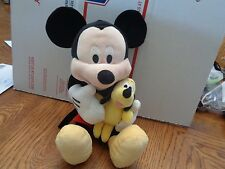"DISNEY 12"" Mickey Mouse Holding Baby Pluto ADORABLE"