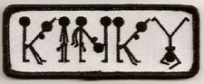 KINKY EMBROIDERED FUNNY IRON ON PATCH