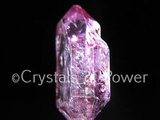 1 RARE XXL STARBRARY PINK/ROSE AURA HERKIMER DIAMOND QUARTZ CRYSTAL! HERKIMER NY