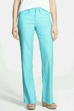 NYDJ Not Your Daughter's Jeans 14P AQUA NWT Wylie Stretch Linen Blend Trouser