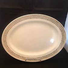 Vintage The Edwin M Knowles ChinaCo Union Made in USA Hostess Shape Platter 38-6