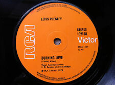 "Elvis Presley - Burning Love / It's a Matter of Time 7"" Single"