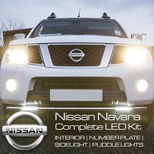 NISSAN NAVARA FULL INTERIOR LED KIT PURE XENON WHITE SIDELIGHTS NUMBER PLATE