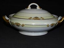 Pirkenhammer Czechoslovakia Round Covered Vegetable Bowl #6654 Chester Line