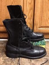 MILITARY VINTAGE 1986 BILTRITE WOMEN'S BLACK LEATHER COMBAT BOOTS SIZE 6.5 XN