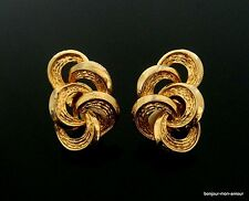 alte Designer CORO Ohrclips Ohrringe, Boucles d'oreilles, Earrings, Pendientes