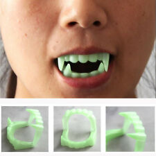 Funny Trick Joke Scary Halloween Party Prop Plastic Luminous Vampire Teeth Toy