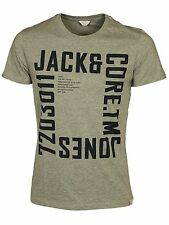 MENS BRAND NEW T SHIRTS SHORT SLEEVE JACK & JONES IN NAVY GREY BLUE COLOUR S-XL