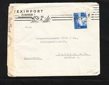 Germany WWII Censor Wien SCARCE Machine & Unlisted #s 754 Croatia Cover c1943 *
