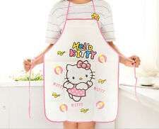 Women Kitchen Cute Waterproof Hello Kitty Paint Cooking Apron vest protector