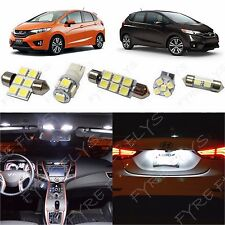 6x White LED lights interior package kit for 2015 & Up Honda Fit HF2W