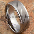Tungsten Carbide Ring Love Men's Wedding Band Titanium Color Jewelry Size 6-13