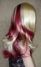 Vanity Wig .. Cranberry and Blonde HOT MIX!