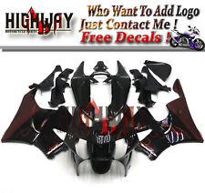 ABS Plastic Fairings Bodywork Kit For Honda CBR900RR 919 98 99 Black Red Flames