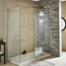Premier 1400mm Walk In Wet Room Shower Screen Panel 8mm Toughened Safety Glass