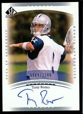 1/1 TONY ROMO 2003 UPPER DECK SP AUTHENTIC AUTO JERSEY # 9/1200 DALLAS COWBOYS