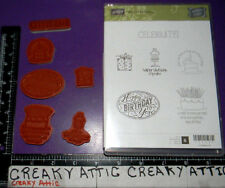 STAMPIN UP BEST OF BIRTHDAYS 6 CLING RUBBER STAMPS HAPPY CAKES CELEBRATE